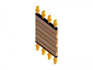 Drewniane listy przylegające do siebie