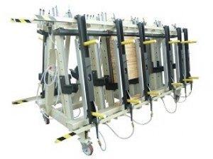 Prasa trapezowa Typ PTD dwustronna z dociskiem wyrównującym pneumatycznym 4
