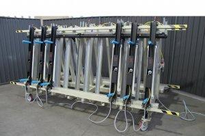 Prasa trapezowa Typ PTD dwustronna z dociskiem wyrównującym pneumatycznym 5