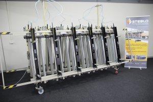 Prasa trapezowa Typ PTD dwustronna z dociskiem wyrównującym pneumatycznym 6