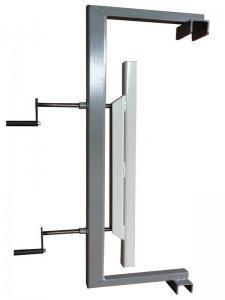Ściski śrubowe przesuwne Typ SRW-1 na stojaku z płytą otworową Typ SPO 3